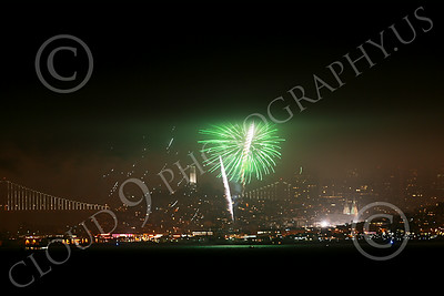 FIREWORKS 00002 San Francisco July 4 2014 fireworks display picture with Coit Tower in the background by Peter J Mancus