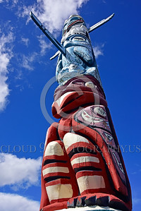 TotPol 00005 Looking up at a tall totem pole with a long nose picture by Peter J  Mancus