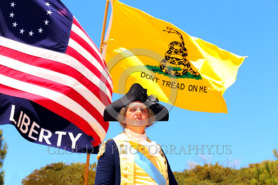 HR-GenGWash 00002 A General George Washington historical re-enactor stands proudly with determination and commitment to liberty by Peter J Mancus