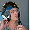 ACM 00438 I wonder if Americans and senior civilian government officials truly appreciate this young US Navy Boeing EA-18 Growler aircrew member and think of him as a true national asset who should be used wisely, aircrew picture by Peter J  Mancus