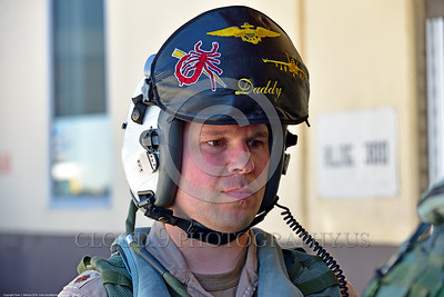 ACM 00440 US taxpayers have invested up to $3 million dollars in this man, a US Navy Boeing EA-18 Growler pilot, to enable him to suppress and destroy enemy surface to air anti-aircraft missiles, aircrew picture by Peter J  Mancus