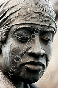 STY-BFREE 00007 Portrait of an emotionally spent, exhausted, or sad Black ex-slave, statue picture by Peter J Mancus