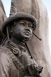 STY-BFREE 00011 A young Black child with an interesting hat, statue picture by Peter J Mancus