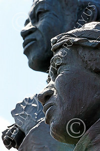 STY-BFREE 00013 Faces of an adult Black female and male, ex-slaves, on a statue that celebrates Black freedom, statue picture by Peter J Mancus