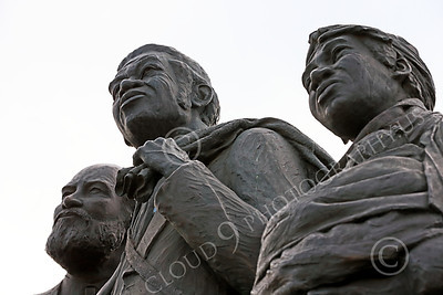 STY-BFREE 00010 A portrait of three adult recent ex-slaves, statue picture by Peter J Mancus
