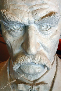 AMER-STYVIP 00011 An extreme close up of an excellent bust of Mark Twain at the Angel's Camp Museum, California by Peter J Mancus