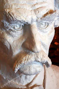 AMER-STYVIP 00005 An extreme close up of an excellent bust of Mark Twain at the Angel's Camp Museum, California by Peter J Mancus
