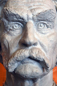 AMER-STYVIP 00003 An extreme close up of an excellent bust of Mark Twain at the Angel's Camp Museum, California by Peter J Mancus