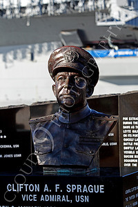 STY - Clifton A F Sprague 00001 Bust of US Navy WWII hero Vice Admiral Clifton A F Ziggy Sprague, by Peter J Mancus