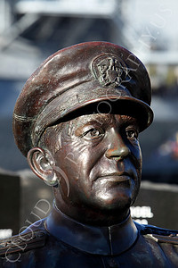 STY - Clifton A F Sprague 00003 Bust of US Navy WWII hero Vice Admiral Clifton A F Ziggy Sprague, by Peter J Mancus