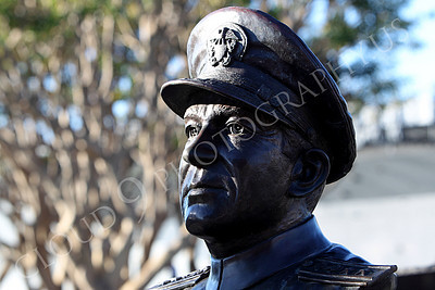 STY - Clifton A F Sprague 00006 Bust of US Navy WWII hero Vice Admiral Clifton A F Ziggy Sprague, by Peter J Mancus