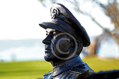 STY - Clifton A F Sprague 00002 Bust of US Navy WWII hero Vice Admiral Clifton A F Ziggy Sprague, by Peter J Mancus