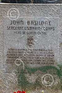 STY- John Basilone 00005 US Marine Corps legend Gunnery Sergeant John Basilone, Hero of Gudacanal, first enlisted US Marine awarded the Congressional Medal of Honor in World War II, by John G Lomba