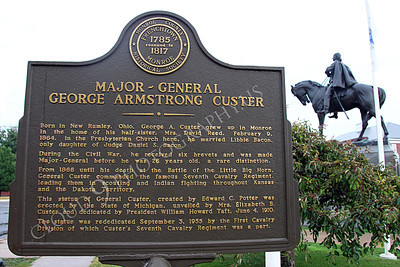 STY - MGGACUSTER 00016 Another plaque in honor of Maj Gen George Armstrong Custer, by Peter J Mancus