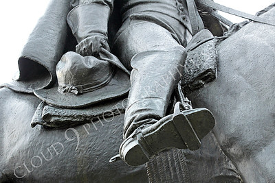 STY - MGGACUSTER 00010 Detail close up of Maj Gen George Armstrong Custer's right leg while on horseback, by Peter J Mancus