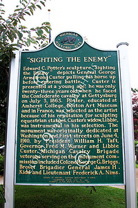 STY - MGGACUSTER 00011 A plaque in honor of Maj Gen George Armstrong Custer, by Peter J Mancus