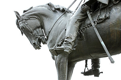 STY - MGGACUSTER 00018 Close up of statue detail for Maj Gen George Armstrong Custer on horseback, by Peter J Mancus