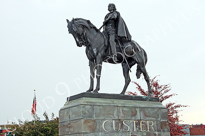 STY - MGGACUSTER 00008 Maj Gen George Armstrong Custer on horseback, by Peter J Mancus