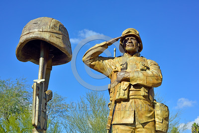 STY-USDeSt 00014 This statue in honor of killed in combat US Desert Storm veterans is loaded with extreme respect for Americans who died in combat, statue picture by Peter J  Mancus