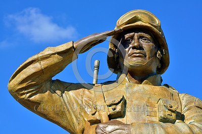 STY-USDeSt 00006 This statue in honor of US Desert Storm combat veterans is extremely well done, statue picture by Peter J  Mancus