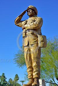 STY-USDeSt 00011 This statue in honor of killed in combat US Desert Storm veterans is loaded with extreme respect for Americans who died in combat, statue picture by Peter J  Mancus