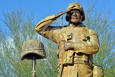 STY-USDeSt 00010 This statue in honor of killed in combat US Desert Storm veterans is loaded with extreme respect for Americans who died in combat, statue picture by Peter J  Mancus