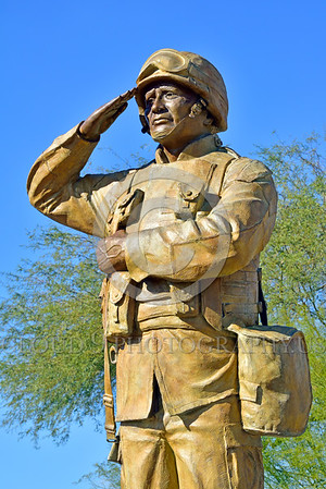 STY-USDeSt 00007 This statue in honor of US Desert Storm combat veterans is extremely well done, statue picture by Peter J  Mancus