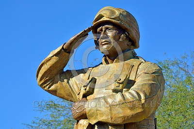 STY-USDeSt 00002 This statue in honor of US Desert Storm combat veterans is extremely well done, statue picture by Peter J  Mancus