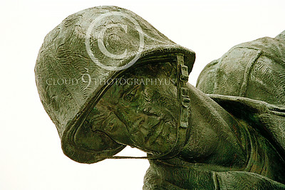STY-USMCM 00006 Face of a couregous gung-ho World War II US Marine in the US Marine Corps Memorial in Washington DC, statue picture by Peter J Mancus