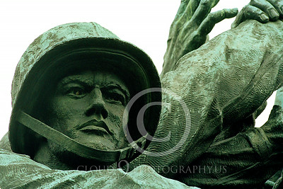 STY-USMCM 00018 A detailed face study of a Marine in the world famous US Marine Corps Memorial in Washington DC, statue picture by Peter J Mancus