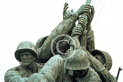 STY-USMCM 00008 US Marine Corps teamwork depicted in the world famous US Marine Corps Memorial in Washington DC, statue picture by Peter J Mancus