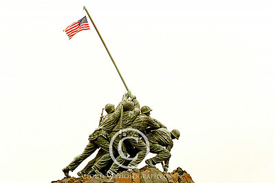 STY-USMCM 00014 Side view of the world famous US Marine Corps Memorial in Washington DC, statue picture by Peter J Mancus