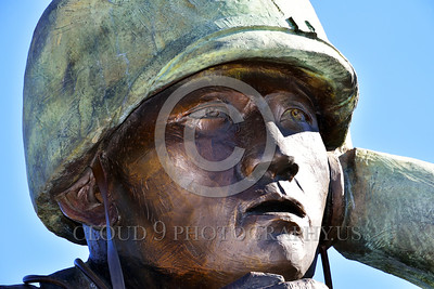STY-Code Talkers 00006 A tight crop on the face of a statue honoring World War II USMC Navajo Indian code talkers who stumped the Japanese and contributed significantly to the American victory, statue picture by Peter J  Mancus