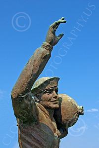 Sty - US Merchant Seaman 00001 Statue of a young US Merchant Seaman, by John G Lomba