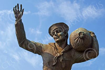 Sty - US Merchant Seaman 00002 Statue of a young US Merchant Seaman, by John G Lomba