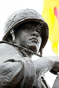 STY-VIETNWM 00011 Close up of the face of a South Vietnamese Army soldier depicted in a Vietnam War Memorial statue picture by Peter J Mancus