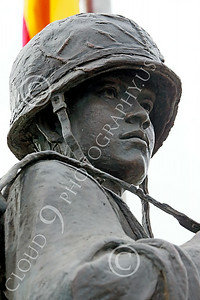 STY-VIETNWM 00029 Close up of the face of a South Vietnamese Army soldier depicted in a Vietnam War Memorial statue picture by Peter J Mancus