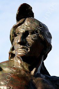 STY - AmInd 00003 A tight crop statuary portrait of an American Indian brave, by Peter J Mancus