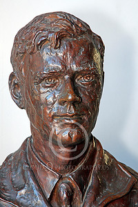 VIPS-Charles A Lindbergh 00009 A dark bust of Charles A Lindbergh, by Peter J Mancus
