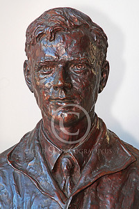 VIPS-Charles A Lindbergh 00015 A dark bust of Charles A Lindbergh, by Peter J Mancus