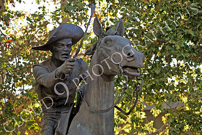 STY - PEXP 00002 Pony express rider with a whip on his horse by Peter J Mancus