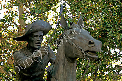 STY - PEXP 00014 Pony express rider with a whip on his horse by Peter J Mancus