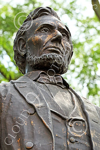 STY - ALINCOLN 00007 An excellent portrait of Abraham Lincoln under shade trees, by Peter J Mancus