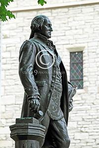 STY - GWASHINGTON 00017 An excellent George Washington statue close to a stone wall building, by Peter J Mancus