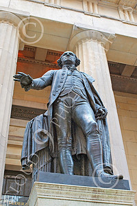 Sty - GEORGE WASHINGTON 00003 A statue of George Washington, first president of the United States, in New York City, by John G Lomba