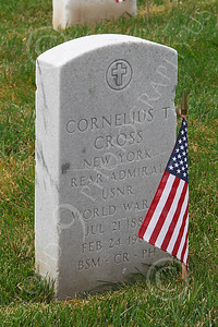 AMER-MilCem 00025 World War II US Navy Rear Admiral Cornelius Cross' tombstone, at a US military cemetery on Memorial Day, by Peter J Mancus