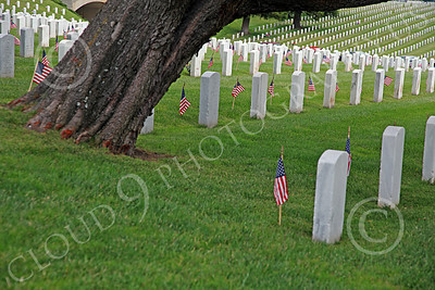 AMER-MilCem 00010 Rows of American veterans' tombstones at a US military cemetery on Memorial Day, by Peter J Mancus