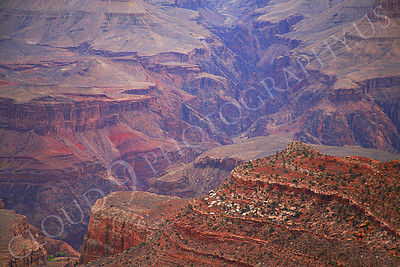 SCGNP 00022 Clove up view of a small part of the Grand Canyon's internal maze, by Peter J Mancus