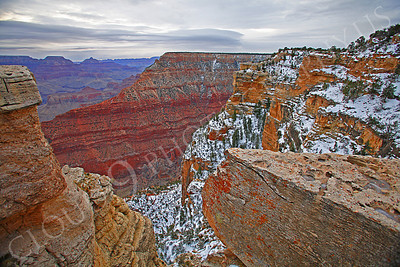 SCGNP 00015 A beautiful wintery Grand Canyon scene, by Peter J Mancus