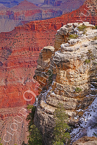 SCGNP 00017 A mixture of yellow and red cliff rocks inside the Grand Canyon, by Peter J Mancus